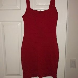 Express Red BodyCon Cocktail Dress